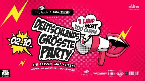 Deutschlands größte Party - 100 Clubs brechen den Partyrekord